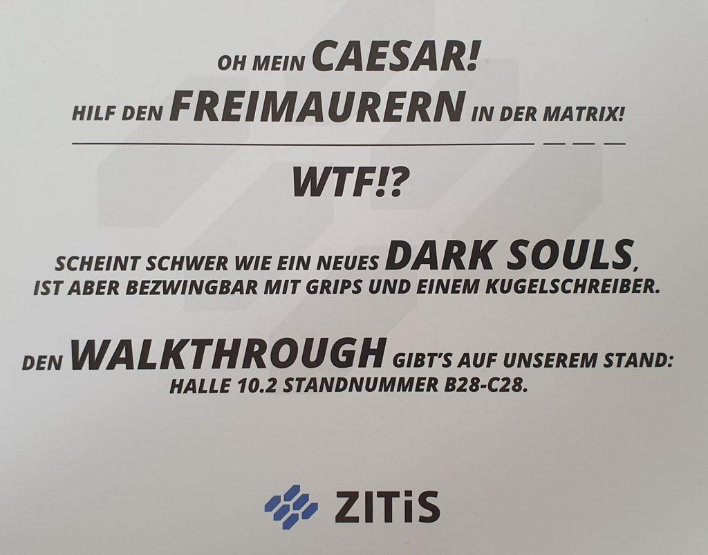 Gamescom 2019 - Zitis - Krypto Challenge - Hinweise
